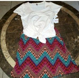 LuLaRoe OUTFIT S JiLL Skirt NWT & XS Classic T NWT
